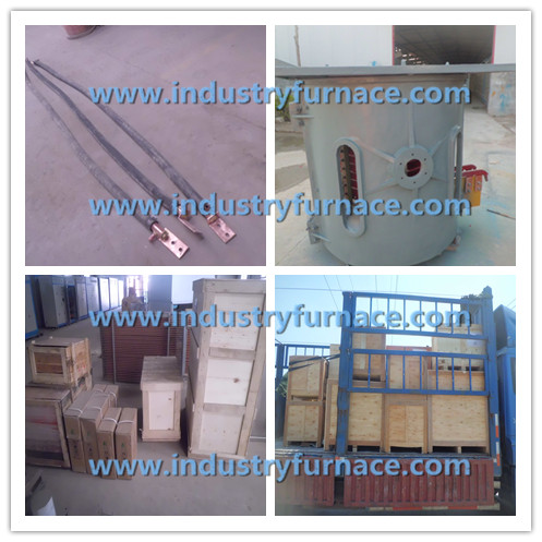 1 Ton induction furnace melting pot delivery to Qingdao Port