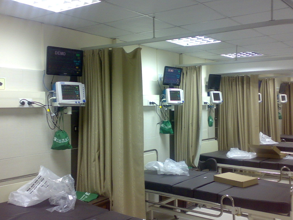patient monitor in Africa hospital
