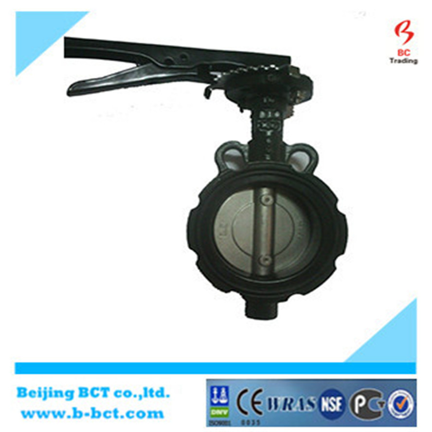 Cast iron butterfly valve with handle