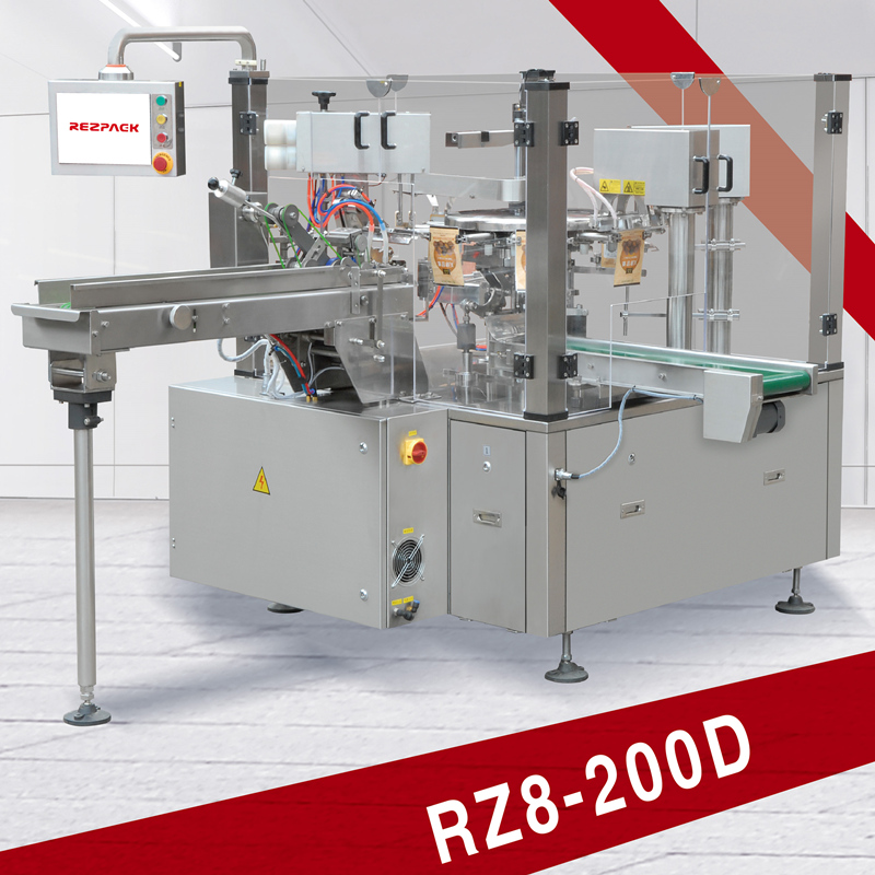 2016 new design Intelligent Rotary Pre-made Pouch packing machine