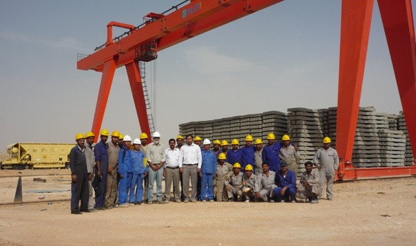 General Gantry Crane complete installation in Suadi Arabia
