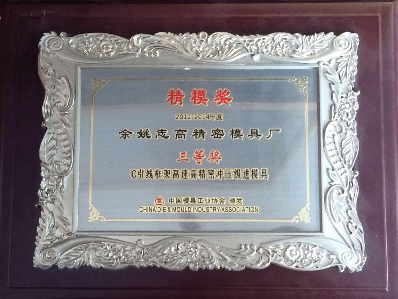Certificate-China Mold Award