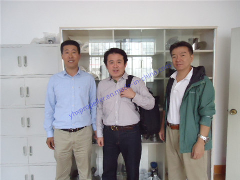 Our custorms from Japan visiting our factory