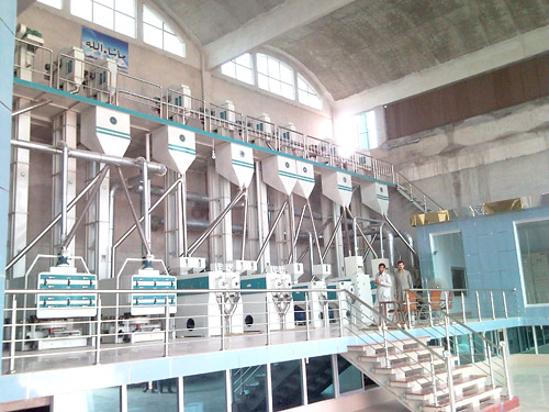 we exported 150tons /d rice processing machines to Pakistan