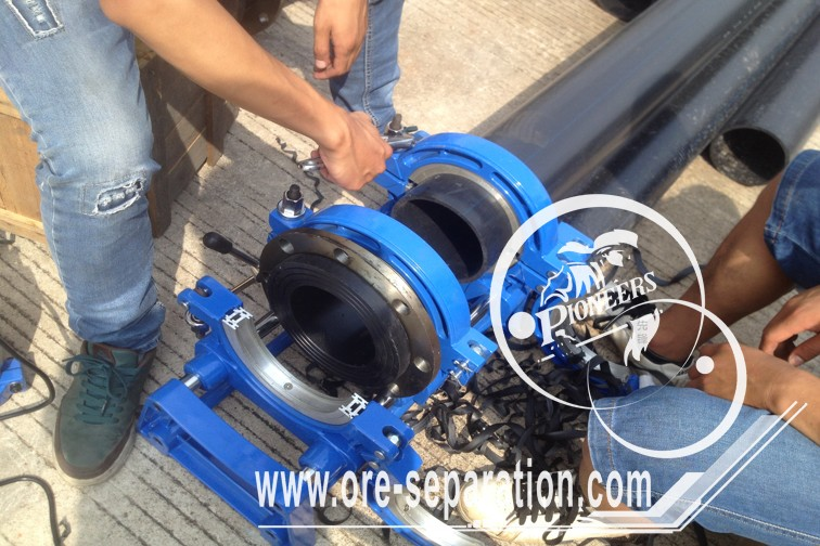 HDPE Heavy Pipe with Flange and Flange Gasket