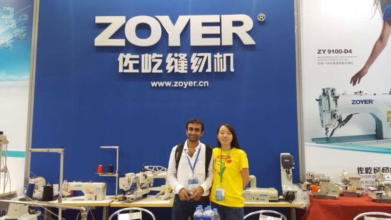 Zoyer sewing machine factory customer show