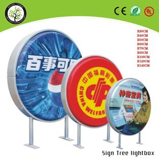 LED Round Lightbox