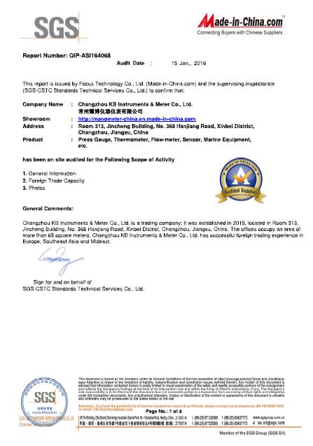 SGS -certificate