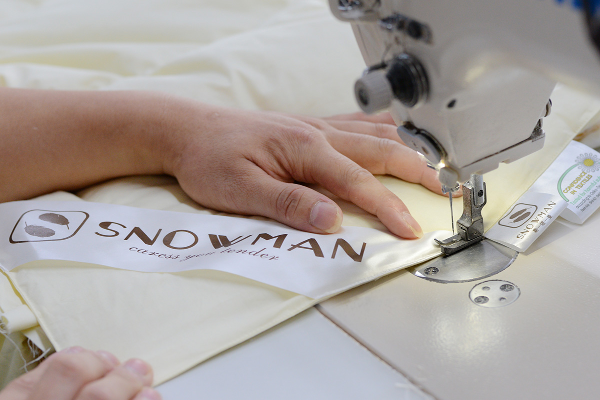 comforter and pillow sewing