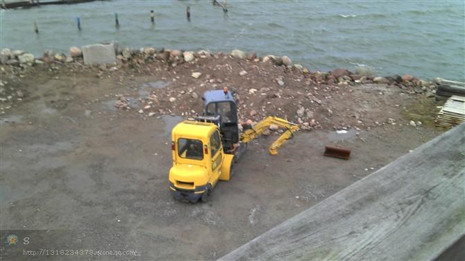 Mini Excavator Working in Sweden