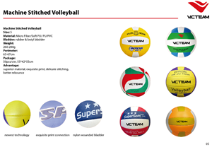 Machine stitched volleyball