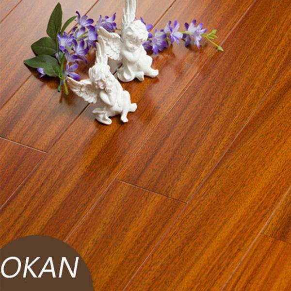 Okan Hardwood Flooring Iroko Wood Flooring Golden Color