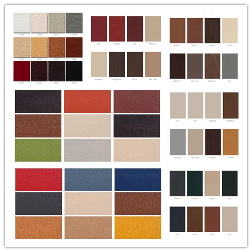 Our sofa Colors card for selection