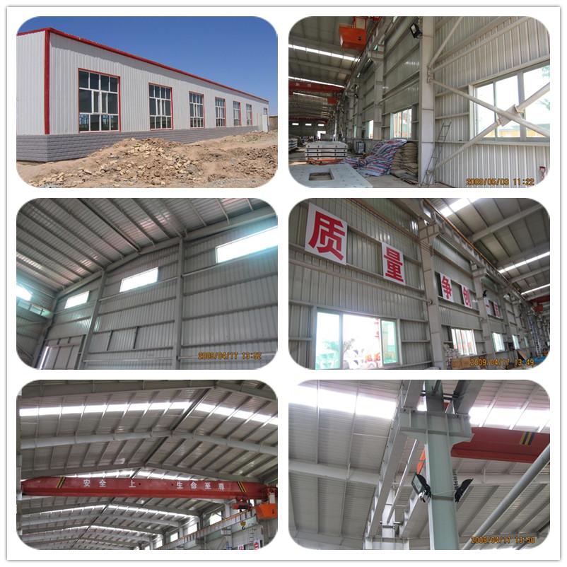 Prefabricated steel structure frame building for workshop