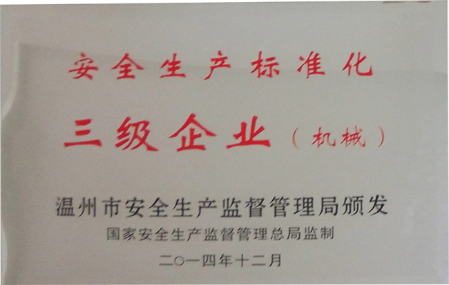 Safety production standardization level 3 companies