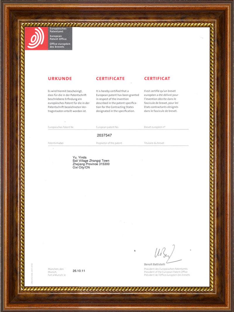 YYSR hollow pin international patent
