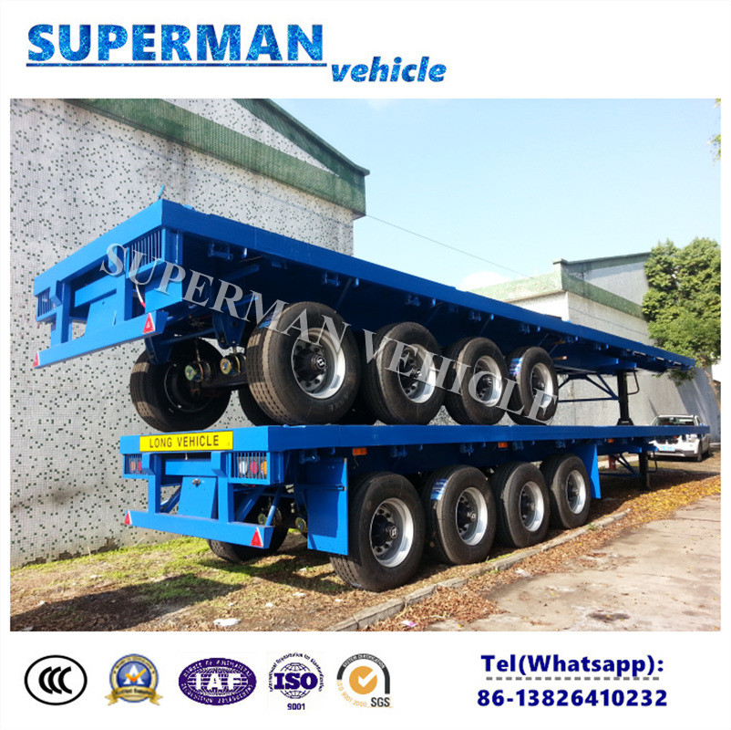 40feet 3 Axle Tractor Flatbed Heavy Truck Semi Utility Trailer