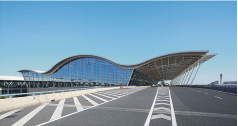 Pudong Airport in Shanghai