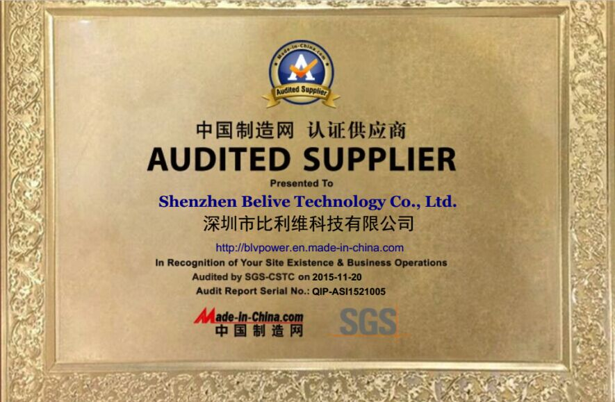 AUDITED SUPPLIER by MADE in CHINA.COM