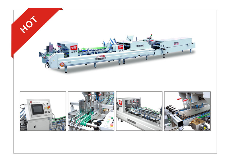 XCS-980 Special Use of Flat Box Folder Gluer Machine