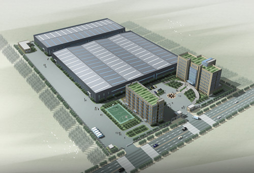 New factory aerial view