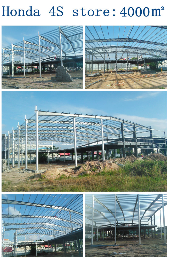 Prefab Steel Structure Honda 4S store
