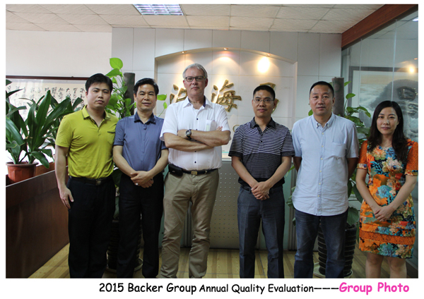 2015 Backer Group Annual Quality Evaluation