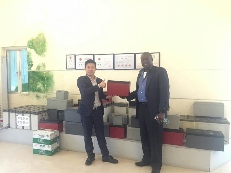 Angola clients love CSPOWER deep cycle AGM battery
