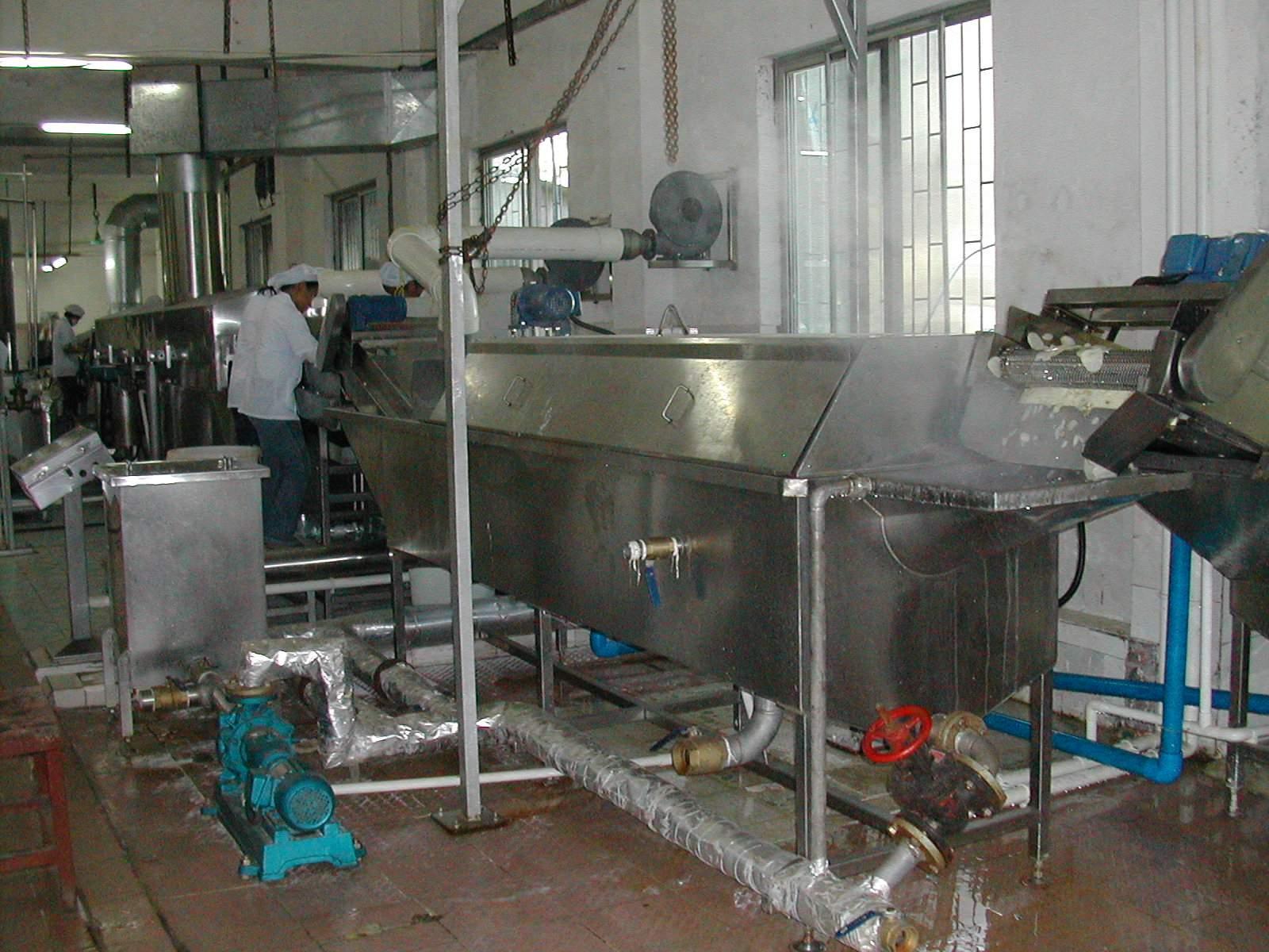 Hot water blancher