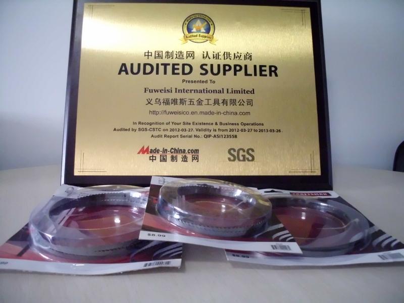 SGS certified supplier certificate