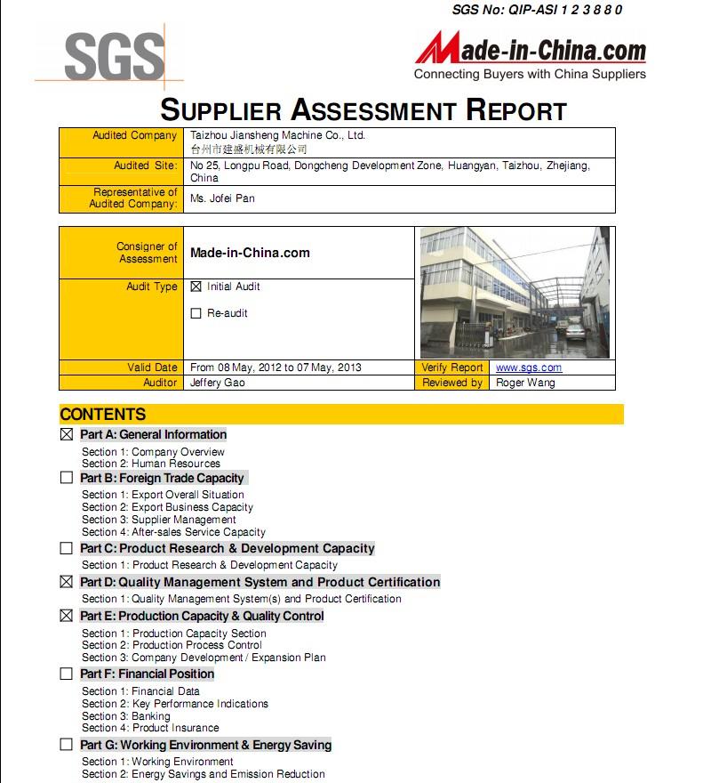 SGS Report 2