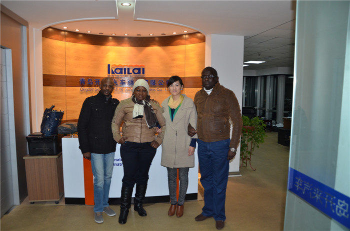 Congo-Brazzaville customers came to our company