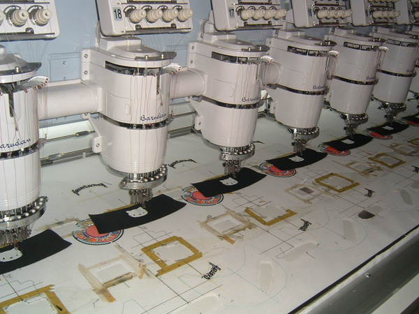 embroidery department for baseball cap