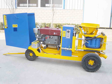 we provide one of pz-9 shotcrete machine with diesel engin to Philippines dated 20th Aug. 2011