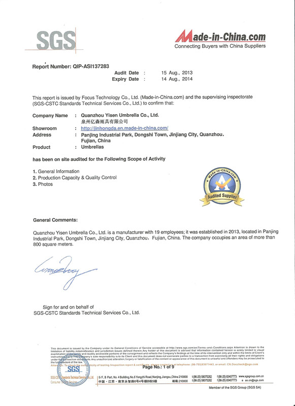 Factory Supplier Assessment Report P1