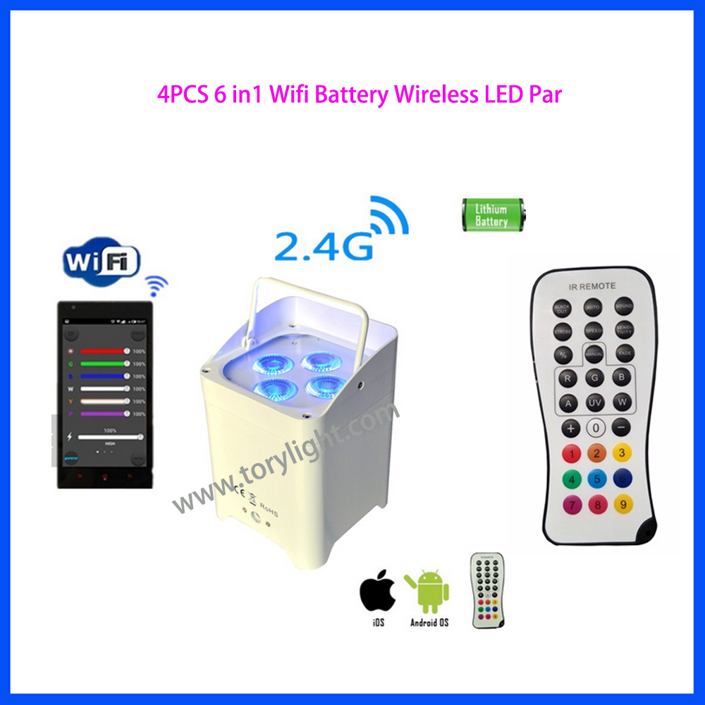 LED Wireless Battery Wifi Par Light