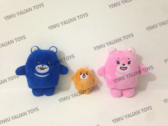 custom small bear plush toy samples