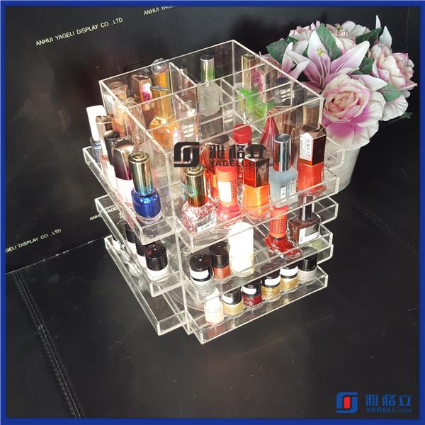vanity acrylic nail polish rotating display stand