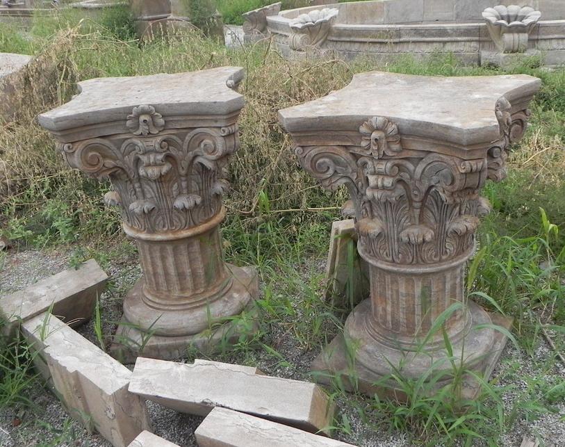 antique stone Roman Column