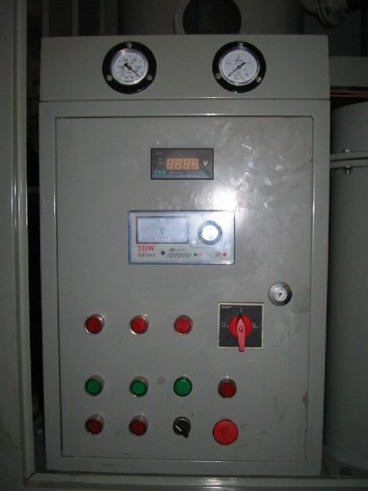 Picture 1 of oil purifier control panel
