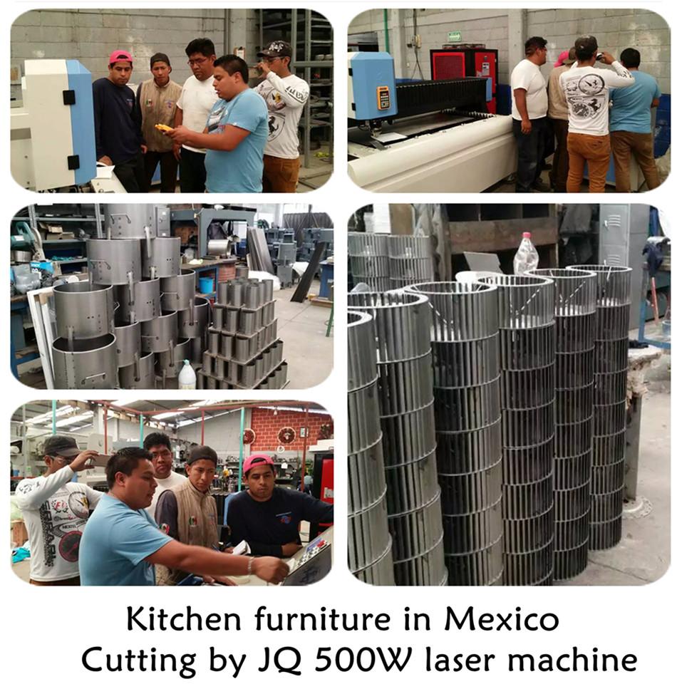 JQ 500W laser machine training in mexico