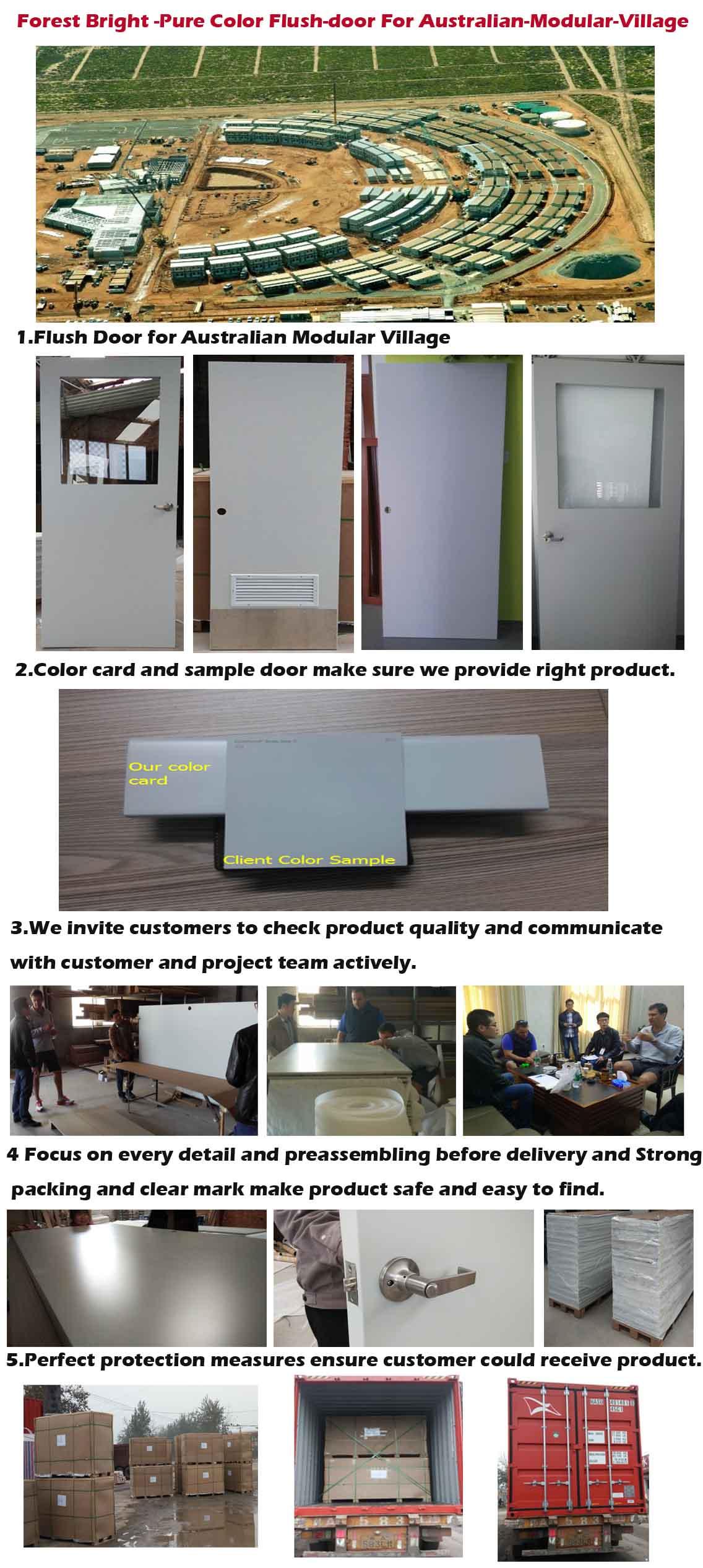 Forest Bright -Pure Color Flush-door for Australian-Modular-Village