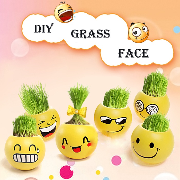 DIY GRASS FACE
