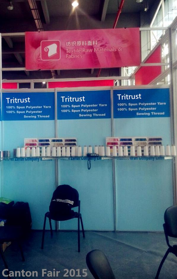 Tritrust booth in Canton Fair 2015