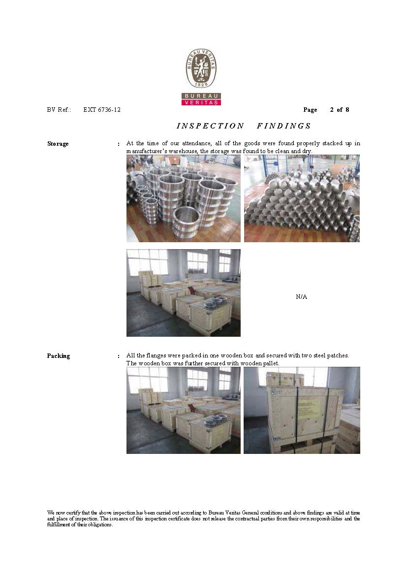 BV Inspection Report Flanges and fittings-2