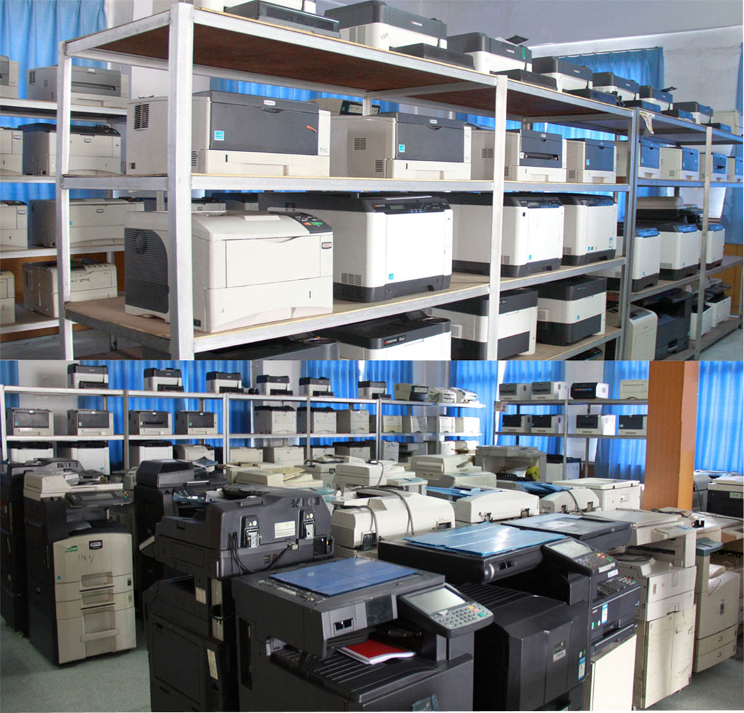 testing machine of copier toner and drum cartridges