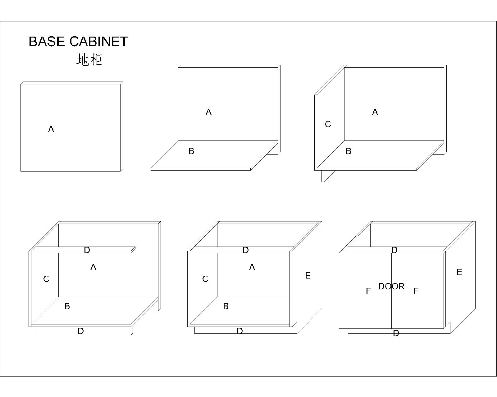 base cabinets assemble drawings
