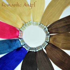 Tape in Human Hair Straight Remy Human Hair Extension double side tape