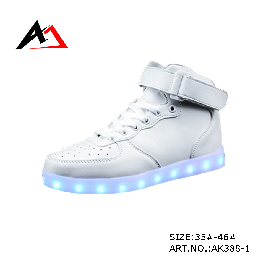 LED Shoes Luminous Flat Casual Sneakers with Flash Light