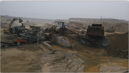 dewatering secreen using site
